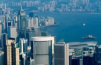 Overview from Victoria Peak. Hong Kong. China