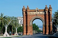 Triumphal Arch. Barcelona. Spain