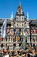 City Hall in Grote Markt. Antwerp. Belgium