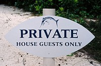 Private - house guests only. Only people staying at this exclusive resort can access the beach