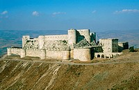 Krak des Chevaliers (Castle of the Knights). Qalaat al Hosn, Syria