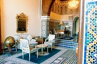 Kings suite. Jamai Palace old building. Fes riads. Morocco.