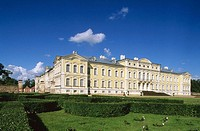 Rundale palace built in 18th century by Francesco Bartolomeo Rastrelli. Zemgale, Latvia