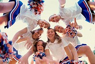Portrait of a group of cheerleaders
