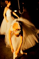 Close-up of young woman performing ballet (thumbnail)