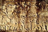 Angkor Thom, The Bayon. Relief. Angkor. Cambodia.