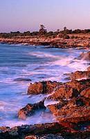 Rocky coast, Sierra de Irta natural preserve. Castellón province, Comunidad Valenciana, Spain