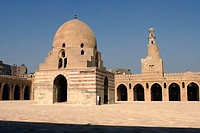 Mosque of Ibn Tulun courtyard. Cairo, Egypt