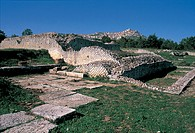 italy, basilicata, agri valley, grumento nuova, excavations