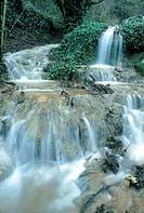 italy, lazio, bellegra, arco river