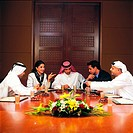 Arab businesspeople in conference (thumbnail)