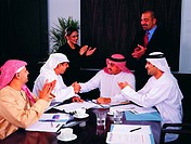 business agreement between Arab businessmen