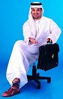 Arab businessman with briefcase