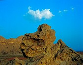 Rock formation in the desert, United Arab Emirates