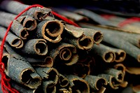 Cinnamon sticks for sale on a market in Dubai, United Arab Emirates (thumbnail)