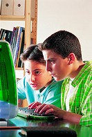 Young boys at computer