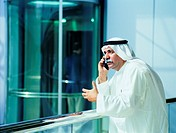 Arab businessman using a mobile phone