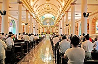 Sunday mass in the cathedral, San José. Costa Rica