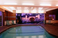 Condominium home pool, complex Tukwila. Washington, USA