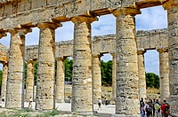 Greek temple of Segeste. Sicily. Italy