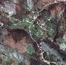 Cvrsnica mountain, Bosnia-Herzegovina. Satellite image of the Cvrsnica mountain (2226 metres) in the Dinaric Alps, Bosnia-Herzegovina. Cvrsnica is sur...