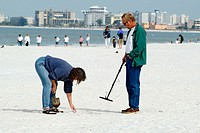 Visitors to St Pete Beach and Pass-A-Grille engage in exercise relaxation and hobbies while vacationing. Florida. USA