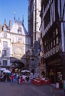Rouen, Rue du Gros-Horloge/ Große Uhr