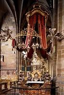 Prag/ Veitsdom, Reliquienaltar des Johannes von Nepomuk