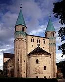 Gernrode, Stiftskirche St. Cyriakus/ Blick von Westen