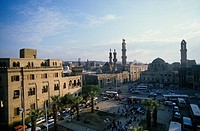 egypt, cairo, shari el azhar the square and the mosque
