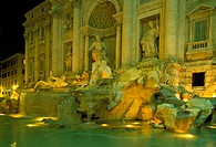 europe, italy, rome, trevi fountain