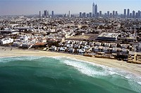 united emirates, dubai, aerial view