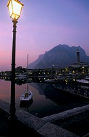 italy, lombardia, lecco by night