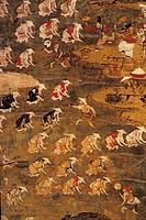 giappone periodo heian, 794_1185 dc, semina del riso al suono della musica rituale shintoista dengaku