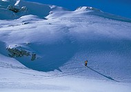 greece, parnassus mountain, a skier