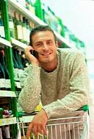 man, supermarket