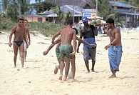 brazil, porto seguro, people on the beach