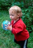 little girl, ball