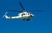 Emergency helicopter. Valencia. Comunidad Valenciana, Spain