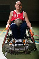 Basketball player in a wheelchair (thumbnail)