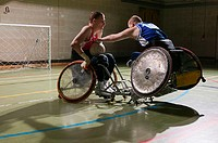 Disabled basketball players