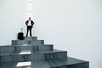 Portrait of businessman on platform