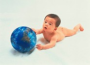 Baby and globe