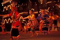 Traditional dancers at Merdeka Square, Kuala Lumpur, Malaysia