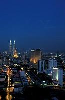 Kuala Lumpur skyline at night, Malaysia