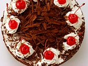 Black Forest cherry gateau