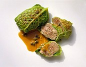 Savoy Cabbage Roulades with Ground Meat Filling