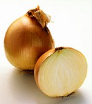 A Whole and Half Yellow Onion (thumbnail)