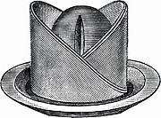 Decoratively folded napkin (illustration)