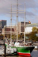 Windjammer 'Rickmer Rickmers'. Hamburg, Germany